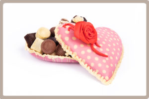 Chocolade en Taart Workshops hart met bonbons
